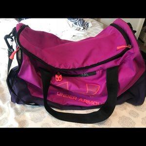 Purple and orange Under Armour bag